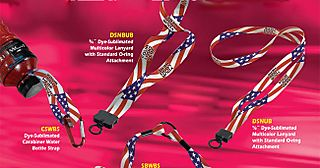 American Flag Lanyards