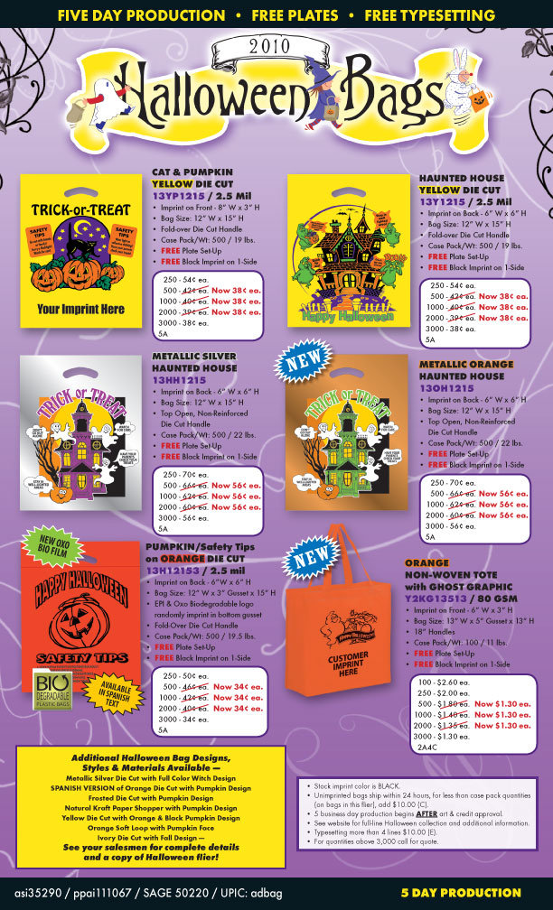 Halloween bag flyer